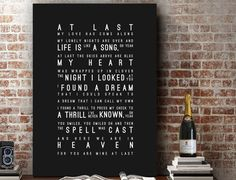 Hey, I found this really awesome Etsy listing at https://www.etsy.com/listing/259480782/etta-james-at-last-lyrics-love-song-wall