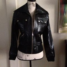 SALE Reduced! Argentinian Leather Bomber! Black bomber leather jacket. This us the kind if leather that gets better with age Purchased in Buenos Aires! Carla Brunelli Jackets & Coats