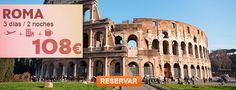VUELO + HOTEL BCN-ROMA 3 D/2 N DESDE 108 EUR. Precio dese, por persona en base a habitación doble en el hotel Arcadia 3*. Salida el 26 de septiembre de 2014 desde Barcelona. Oferta sujeta a disponibilidad. #OfertaDestinia #Roma #Rome