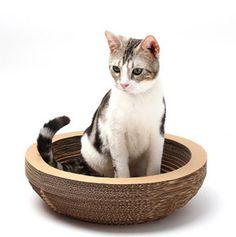 Ziweiba Natural Paper Wood Cat Scratching Pad Scratcher with Catnip Circle
