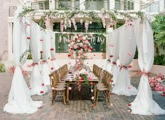 Beautiful Wedding With A Floral Peacock | ElegantWedding.ca Wedding Receptions, Wedding Events, Wedding Ceremony, Table Setting Inspiration, Wedding Place Settings, Beautiful Gardens, Wedding Centerpieces, Peacock, Floral Design