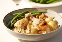 Creamy Chicken, Bacon, Leek Braise