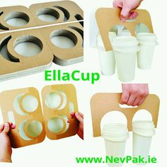 """12 Me gusta, 2 comentarios - NevPak (@nevpakirl_packaging) en Instagram: """"EllaCup Carrier available now. Does not hide branding on cups. 4 cup splits into 2 for a 2 cup…"""""""