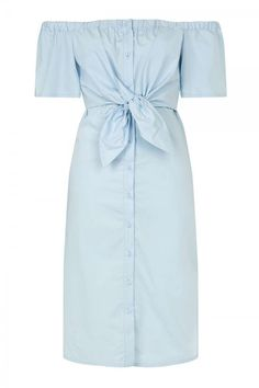 Topshop Poplin Bow Bardot Midi Dress, £42