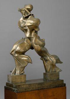Unique Forms of Continuity in Space  Umberto Boccioni (Italian, Reggio 1882–1916 Sorte) 1913, cast 1950 Bronze 47 3/4 x 35 x 15 3/4 in. (121.3 x 88.9 x 40 cm)