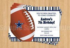 Dallas Cowboys Football Birthday Party by Cowboy Theme Party, Cowboy Birthday Party, Football Birthday, Birthday Ideas, 9th Birthday, Birthday Cake, Football Invitations, Cowboy Invitations, Birthday Party Invitations