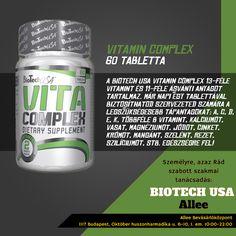 MINDEN, AMI AZ EGÉSZSÉGEDHEZ KELLHET!  Jó lenne, ha csak bekapnál egy tablettát, ami minden vitamin- és ásványianyag-szükségletedet egy szempillantás alatt kielégítené? A Biotech USA Vitamin Complex segít a legfontosabb vitaminok és ásványi anyagok pótlásában, és erősíti az immunrendszeredet. Tökéletes társ a mindennapokhoz. #biotechusa #allee #vitacomplex