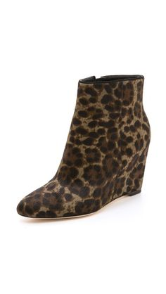 B Brian Atwood Bellaria Wedge Haircalf Booties $385.00 sale