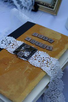 Custom Vintage Book Wedding Guestbook. $75.00, via Etsy.