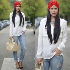 Menbur Shoes, Zara Shirt Fall Outfits, Casual Outfits, Cute Outfits, Turbans, Blazer Fashion, Fashion Outfits, Long Brown Coat, Head Clothing, Hair Wrap Scarf
