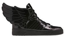 0f216b9e56d8 The latest creation from adidas Originals and design oddball Jeremy Scott  is a slightly more subdued black Patent Leather edition of the JS Wings (It  turns ...
