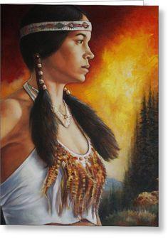 Native Pride Greeting Card by Harvie Brown