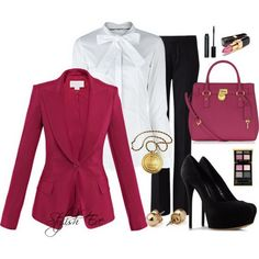 Pink Winter 2013 Outfits for Women by Stylish Eve.....switch out the blouse and gold button earrings...sweet!!