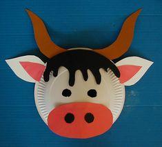 Masque de vache - Tête à modeler