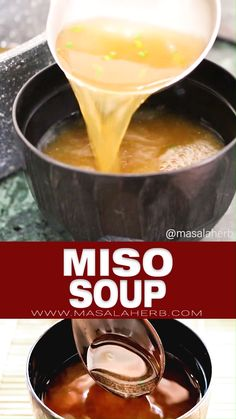 Basic Miso Soup Recipe - A classic simple recipe to make Japanese miso soup from scratch at home. This is a plant-based vegan miso soup version, which is prepared as a healthy breakfast dish in Japan. Collect and try all the Asian recipes at masalaherb.com Healthy Breakfast Dishes, Breakfast Soup, Vegan Breakfast, Breakfast Recipes, Vegan Miso Soup, Healthy Miso Soup, Japanese Miso Soup, Miso Recipe, Best Soup Recipes
