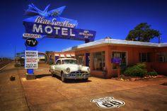 Blue Swallow Motel, Tucumcari, New Mexico.