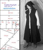 Pattern: Sleeveless Cloak/Duster by ~eqos on deviantART