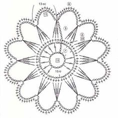 Free Crochet Doily Patterns, Crochet Stitches Chart, Crochet Snowflake Pattern, Crochet Doily Diagram, Crochet Snowflakes, Crochet Mandala, Tatting Patterns, Crochet Doilies, Crochet Flowers