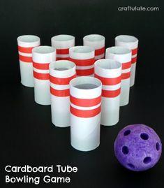 Cardboard Tube Bowling Game