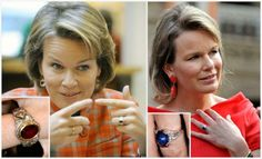 Princess Mathilde of Belgium, Duchess of Brabant When Mathilde became engaged to Prince Philippe, she received a ring with a central oval ruby in an intricate diamond band from Belgian jeweler Wolfers. These days, she alternates between the ruby ring and a sapphire version (an oval sapphire with diamonds to the side) which has appeared in these later years of her marriage