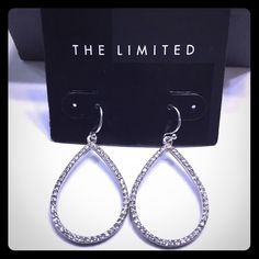 The Limited teardrop earrings Beautiful faux diamond teardrop earrings. The perfect addition to any holiday outfit. They would also make a great gift! NWT. Bundle to save more! No trades please. The Limited Jewelry Earrings