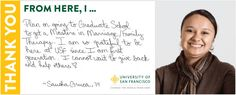 Help us spread awareness about getting you scholarships! http://www.usfca.edu/student/philanthropy/