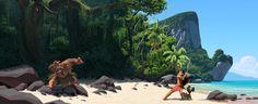 Ryan Lang ha postato alcuni concept art del nuovo film della Disney Oceania. In origine il nome era Moana, ma per ovvi motivi in Italia hanno dovuto aggiustare il tiro…  Lang ha lavorato su diversi film della Disney come concept artist, come ad esempio Dr. Strange, Ralph Spaccatutto e il mio favorito Big Hero 6.  Seguilo sui suoi profili twitter e facebook, oppure sul suo sito www.ryanlangdraws.com.  Immagine © Disney.