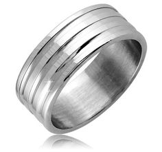 $7.99 - Stainless Steel Men's Ring with Silver