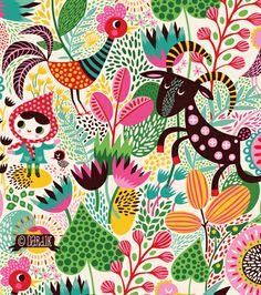 «Mary had a little place in the country» Una hermosa ilustración de la talentosa Helen Dardik, vean las demás maravillas que nos muestra en su blog Orange you lucky!