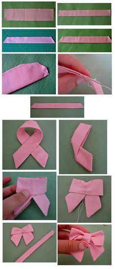 diy fabric bow Faire un joli noeud Ribbon Crafts, Fabric Crafts, Sewing Crafts, Sewing Projects, Fabric Bows, Ribbon Bows, Fabric Flowers, Ribbons, Fabric Flower Headbands