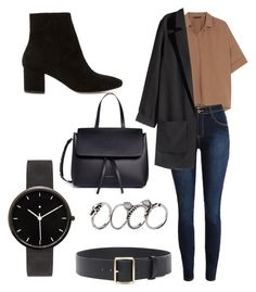 """Untitled #45"" by oliviamfoster ❤ liked on Polyvore featuring Donna Karan, H&M, Frame, I Love Ugly, Mansur Gavriel and Dune"