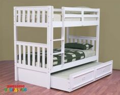 The Jester Bunk Bed features an open slated head and foot board to give a sense of space. The bunk is easy to assemble and can be set up as ...