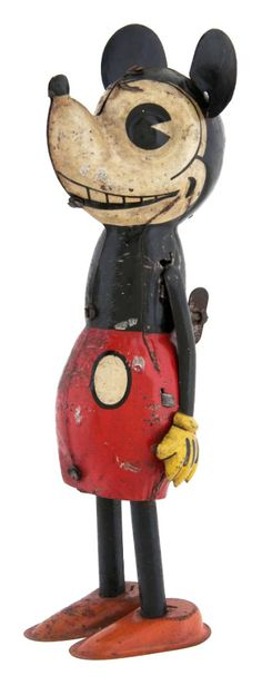 1930s German Mickey Mouse walking tin toy