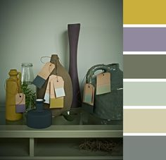 Green and mauve Living Room Inspiration, Color Inspiration, Interior Inspiration, Green Room Colors, House Colors, Green Rooms, Color Harmony, Colour Board, Diy Interior