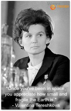 On this day in history, Valentina Tereshkova reentered the Earth's atmosphere after three days in space, becoming the first woman to go to space. #Womenrolemodels