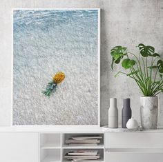 COECLECTIC - Large hand painted artwork on canvas - Ananas