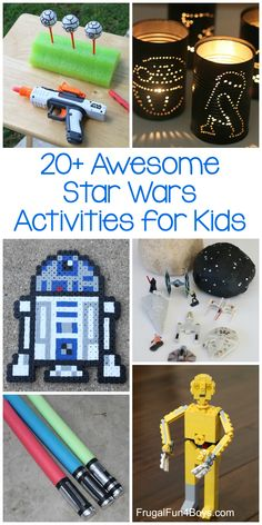 20+ of the BEST Star Wars Crafts and Activities for Kids. Nerf targets, perler beads, LEGO projects, and more. #starwars #kidsactivities #craftsforkids Star Wars Party Games, Theme Star Wars, Kids Party Games, Party Activities, Lego Star Wars, Activities For Kids, Stem Activities, Girls Star Wars Party, Disney Activities