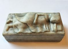 Folk Art Marble Carved Sleeping Girl offered by Steven S. Powers Works of Art & Americana on InCollect