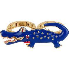 Betsey Johnson Alligator 2 Finger Ring ($55) ❤ liked on Polyvore