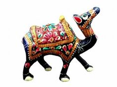 If you are looking for something unique for your living room or study, grab these superb camel figurines. Made of  metal, the camel are in blue, orange, red and green colors. artisans have taken care of all the intricate details of this statue and have enhanced the features using colorful paints. The statue has a superior polish. Makes unique gifts for any occasion.