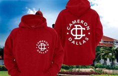 Cameron Dallas Hoodies Sweatshirt Sweater Shirt red by CatGarong