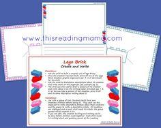 Free Lego Bricks Create and Write ~ Descriptive Writing | This Reading Mama