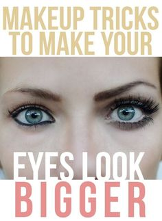 11 Magical Makeup Tricks That Make Your Small Eyes Look BIGGER!- Magical Makeup Tricks That Make Your Small Eyes Look BIGGER! Excellent tool for demonstrating the use of techniques to change the size appearance of the eyes. Makeup Tricks, Makeup Ideas, Makeup Tutorials, Eye Tricks, Beauty Tutorials, Eye Makeup Tips, Makeup Tools, Lemy Beauty, Eyelashes