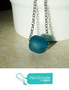 Little Aqua Blue Bead on a Silver Chain Necklace / Minimalist Jewelry from DonkeyandtheUnicorn http://www.amazon.com/dp/B0180Z4OBM/ref=hnd_sw_r_pi_dp_Iomswb1DZMS45 #handmadeatamazon