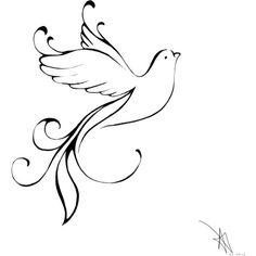 Tribal Dove Tattoo Designs found on Polyvore featuring polyvore, fashion and accessories
