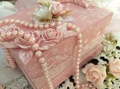 Image result for shabby chic altered boxes
