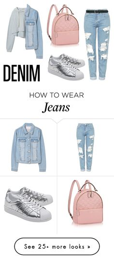 """""""Distressed jeans #3"""" by chicfashionista0505 on Polyvore featuring Topshop, adidas Originals, M&Co and MANGO"""