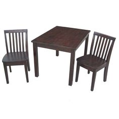 International Concepts Kids Table With Four Mission Chairs   Rich Mocha,  Moccasin
