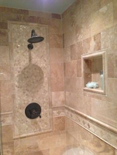 Pictures of Bathroom walls with tile | walls, which incorporate a tile design set in in the main shower wall ...