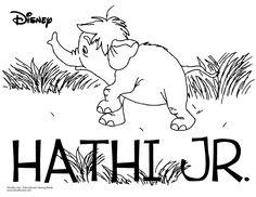 Jungle Book Coloring Sheet-Hathi Jr.